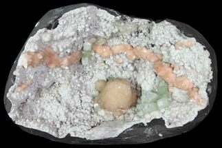 Heulandite, Apohyllite, Stilbite & Mordenite - Fossils For Sale - #117156