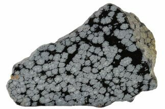 "4"" Polished Snowflake Obsidian Section - Utah For Sale, #117770"
