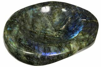 "6.1"" Polished, Flashy Labradorite Bowl - Madagascar For Sale, #117254"