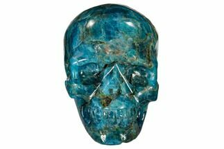 "2.4"" Polished, Bright Blue Apatite Skull - Madagascar For Sale, #118091"