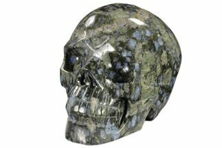 "5.4"" Carved, Que Sera Stone Skull - Brazil For Sale, #118100"