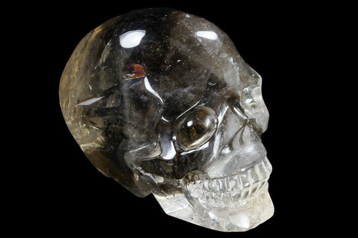 "2.4"" Carved, Smoky Quartz Crystal Skull - Madagascar"