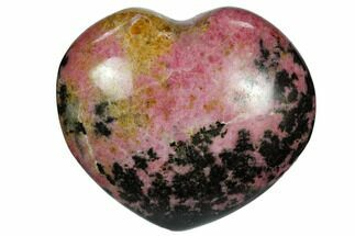 "3"" Polished Rhodonite Heart - Madagascar For Sale, #117353"