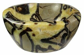 "5.9"" Polished Septarian Bowl - Madagascar For Sale, #120224"