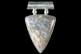 Polished Fossil Dinosaur Bone (Gembone) Pendant For Sale, #115058