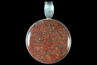 Buy Polished Fossil Dinosaur Bone (Gembone) Pendant - #115063