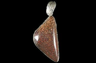 Polished Fossil Dinosaur Bone (Gembone) Pendant For Sale, #115073