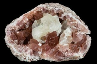 Quartz var. Pink Amethyst & Calcite - Fossils For Sale - #120459