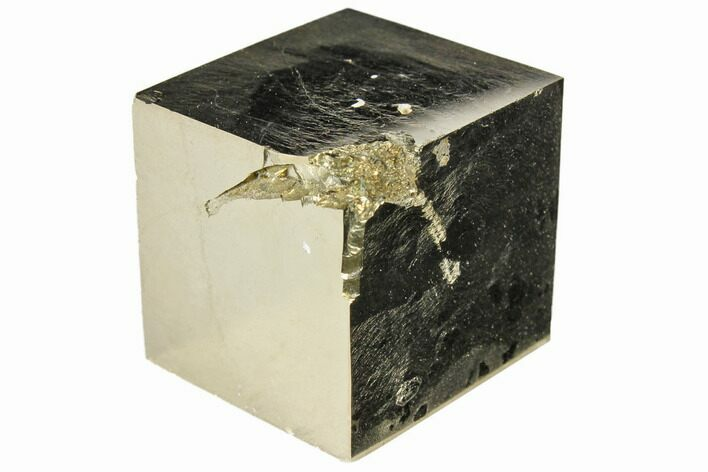 "Bargain, 1.03"" Shiny, Natural Pyrite Cube - Navajun, Spain"