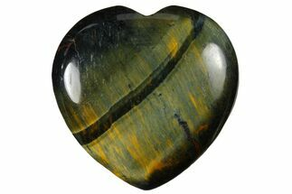 "Buy 1.6"" Polished Blue Tiger's Eye Heart - #121102"