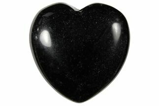 "1.4"" Polished Black Obsidian Heart For Sale, #121118"
