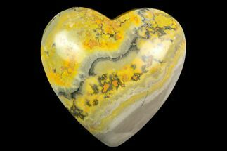 "3.2"" Polished Bumblebee Jasper Heart - Indonesia For Sale, #121196"