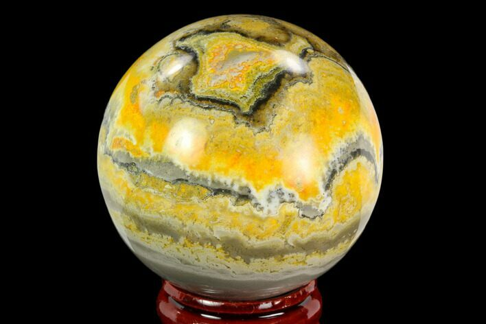 "1.95"" Polished Bumblebee Jasper Sphere - Indonesia"