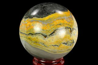 "2.1"" Polished Bumblebee Jasper Sphere - Indonesia For Sale, #121232"