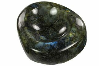 "5.8"" Polished, Flashy Labradorite Bowl - Madagascar For Sale, #120134"