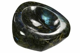 "5.2"" Polished, Flashy Labradorite Dish - Madagascar For Sale, #120740"