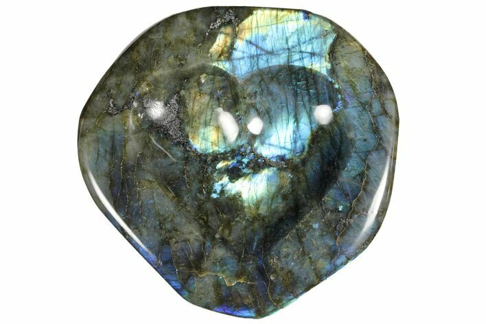 "6.7"" Flashy Labradorite Heart-Shaped Dish - Madagascar"