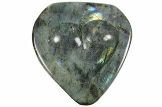 "Buy 6.5"" Flashy Labradorite Heart-Shaped Dish - Madagascar - #120178"