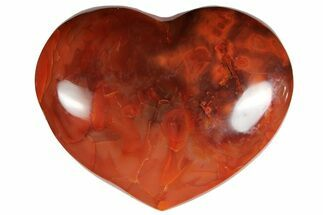 "Buy 3.65"" Colorful Carnelian Agate Heart - #121555"