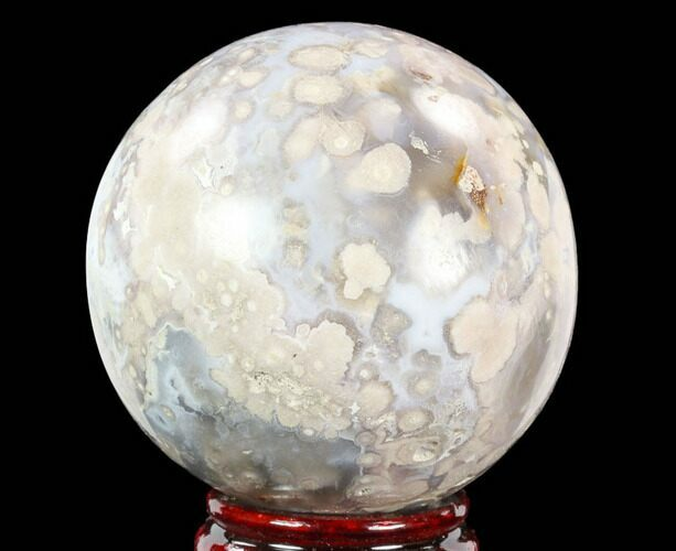 "3.55"" Polished Flower Agate Sphere - Madagascar"
