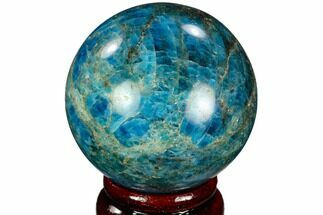 "2.35"" Bright Blue Apatite Sphere - Madagascar For Sale, #121826"