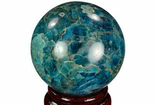 "Buy 2.2"" Bright Blue Apatite Sphere - Madagascar - #121840"