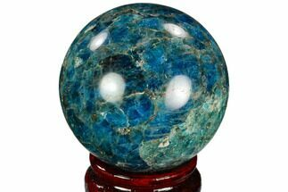 "2.3"" Bright Blue Apatite Sphere - Madagascar For Sale, #121790"
