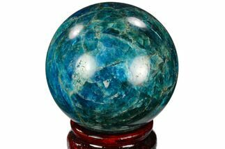 "2.35"" Bright Blue Apatite Sphere - Madagascar For Sale, #121796"