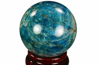 "2.15"" Bright Blue Apatite Sphere - Madagascar For Sale, #121805"