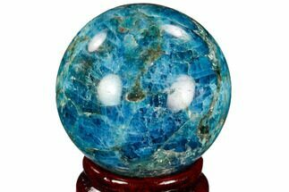 "2.05"" Bright Blue Apatite Sphere - Madagascar For Sale, #121850"