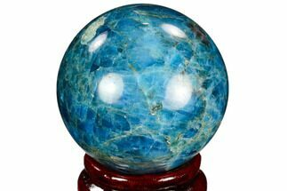 "Buy 2.05"" Bright Blue Apatite Sphere - Madagascar - #121852"