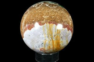 "Huge, 8.3"" Multi-Colored Ocean Jasper Sphere  For Sale, #121961"