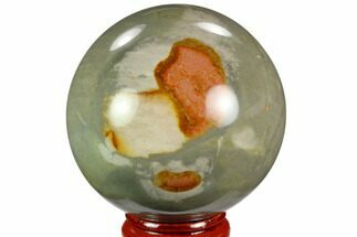 "Buy 2.3"" Polished Polychrome Jasper Sphere - Madagascar - #124150"