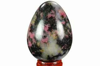 "Buy 2.8"" Polished Rhodonite Egg - Madagascar - #124117"
