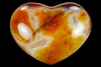 "3.1"" Colorful Carnelian Agate Heart For Sale, #125765"