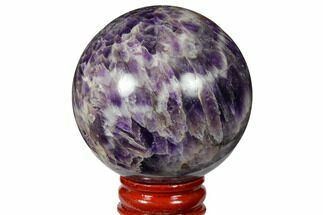 "Buy 2.3"" Polished Chevron Amethyst Sphere - #124489"