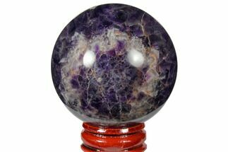 "Buy 2.15"" Polished Chevron Amethyst Sphere - #124495"