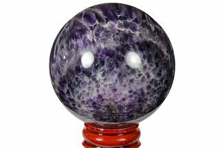"2.35"" Polished Chevron Amethyst Sphere For Sale, #124508"