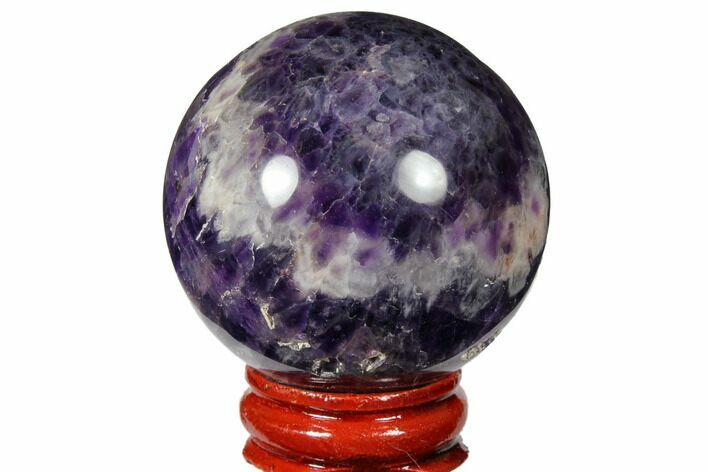 "1.95"" Polished Chevron Amethyst Sphere"