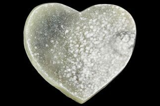 "4.7"" Prasiolite (Green Quartz) Crystal Heart - Uruguay For Sale, #123695"