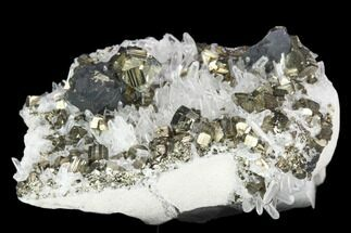 Quartz, Sphalerite & Pyrite - Fossils For Sale - #126543