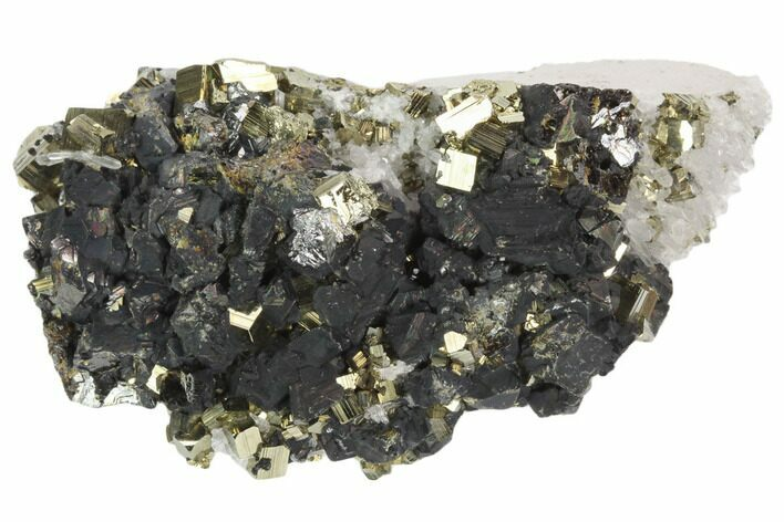 "3.7"" Cubic Pyrite, Sphalerite and Quartz Association - Peru"
