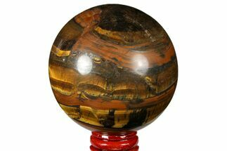 "2.9"" Polished Tiger's Eye Sphere - Africa For Sale, #124625"