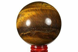 "2.9"" Polished Tiger's Eye Sphere - Africa For Sale, #124628"