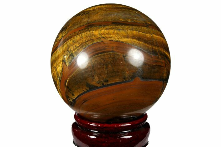 "3.1"" Polished Tiger's Eye Sphere - Africa"