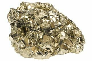 "2.5"" Gleaming Pyrite Crystal Cluster - Peru For Sale, #126596"