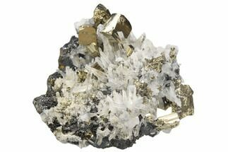 "2"" Pyrite, Sphalerite and Quartz Crystal Association - Peru For Sale, #126599"