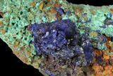 "4.5"" Sparkling Azurite and Malachite Crystal Cluster - Morocco - #127523-2"
