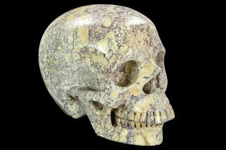 "Buy 4.9"" Realistic, Polished Jasper Skull  - #127603"