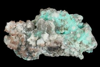 "2.3"" Calcite Encrusted Fibrous Aurichalcite Crystals - Mexico For Sale, #127238"